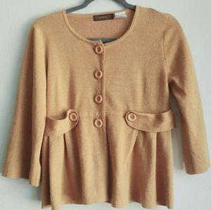 Chadwick's mustard yellow sweater